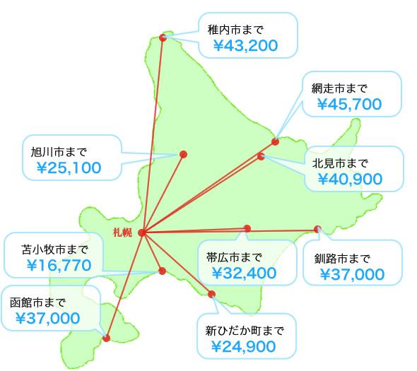 料金の目安地図